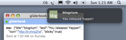 Yapper, a Jabber/XMPP interface for Growl